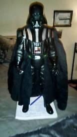 Very tall Darth Vader,spiderman,ironman,green goblin,ironman twister.