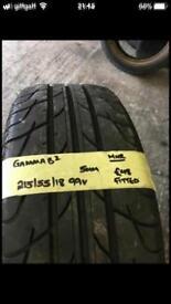 215/55/18 215-55-18 2155518 215:55:18 99V Gamma B2 tyre.