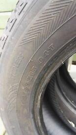 Part worn winter tyres, size 175 55 R15