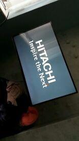"42"" Hitachi flat screen television"
