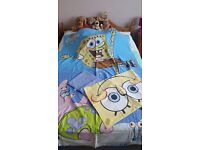 Spongebob squarepants duvet set with bottom sheet