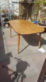 Stylish table, retro styling. Detachable legs, free local delivery