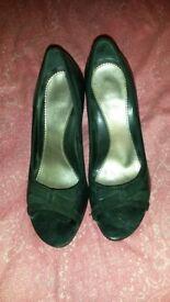 River Island Leather peep toe size 38 heels