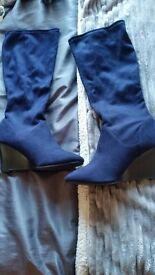 Virtually brand new marks and spencer wedge boots size 8.