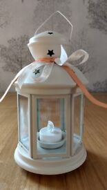 White Lanterns with LED Lights, 16 Available
