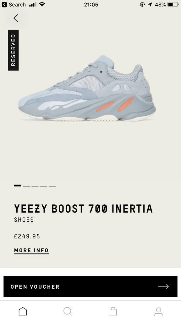 6883188f4a7e6 Adidas Yeezy Boost 700 - Inertia (UK 11.5