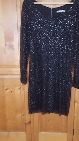Christmas Party Black Sequenced Dress