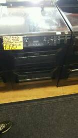 BELLING 60CM ELECTRIC DOUBLE OVEN COOKER IN BLACK