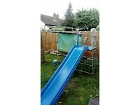 TP CLIMBING FRAME AND SLIDE WITH DEN s