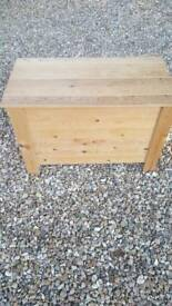 Wood blanket/storage/toy box