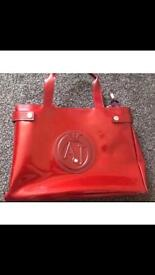 Red Armani jeans bag amazing condition