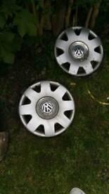 Set of 4 Volkswagen 16 inch wheel trims