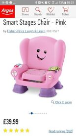 Pink fisher price smart stage chair