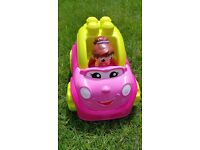 £4 Mega Bloks First Builders Lil Vehicles Catie Convertible (Christmas Present).