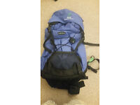 CRAIG HOPPERS 65 LITRE RUCKSACK. USED ONCE