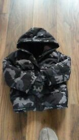 Boys Camouflage Winter Coat 3-4 yrs