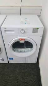 New graded Beko 8kg condenser dryer with 12 months guarantee