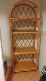 Lovely Cane Display Shelf Unit, living room or conservatory?