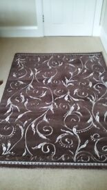 LARGE RUG 170CM X 120CM- VERY GOOD CONDITION -BROWN/BEIGE £30