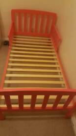 girls TODDLER BED pink