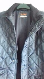Navy quilted coat age 12/13 immaculate