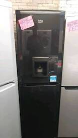 BEKO BLACK FROST FREE FRIDGE FREEZER WITH WATER DISPENSOR
