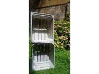SOLS - Shabby chic wooden apple crates - ideal for wedding decorations or flowers