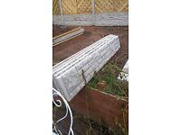 Concrete gravel boards x5