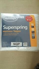 Silentnight single mattress topper