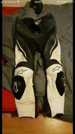 Alpinestar leather race track pants