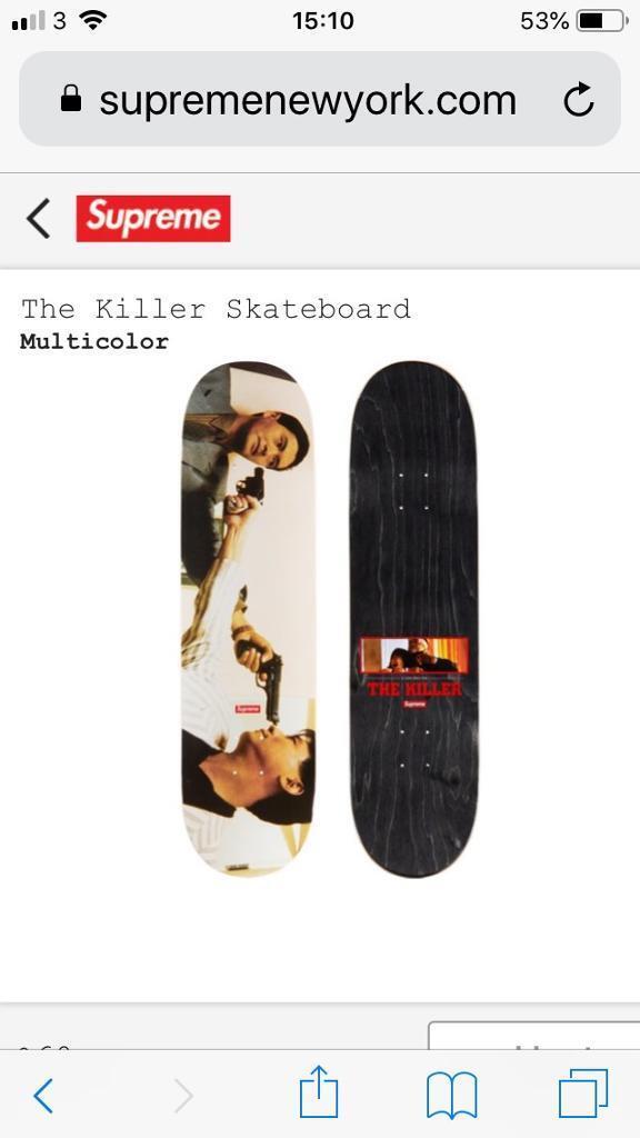 f6526732 Supreme Killer Skate Deck | in Sale, Manchester | Gumtree