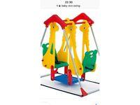 Baby kids vivo indoor/ garden outdoor twin double play swing