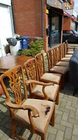Set of 8 Victorian chairs ,Leather suite and bedroom furniture