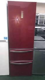 Haier red fridge freezer