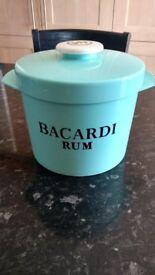 Retro Bacardi Rum Ice Bucket - 1960's Insulex-Breweriana / Home Bar