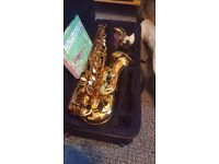 Alto Saxaphone includes DVD, stands, padded strap and several books