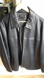 'Claiborne' Men's Genuine Soft Leather Outercoat