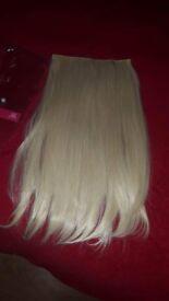 blonde clip in hair