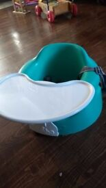 £10 Teal Bumbo floor seat (RRP £37.99) with tray (travel high chair)
