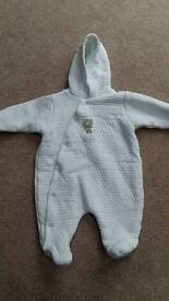 Baby Snowsuit /All In One - Age 0-3 months. From Mothercare