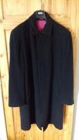 "Men's Black Winter Coat Medium (50"" chest), BLAKES- worn once"