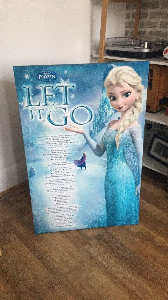 Ex large Disney frozen canvas