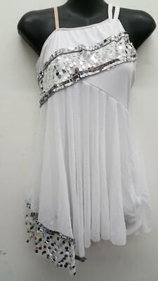 Stone Angel Costume (Dance Costume Medium Adult White Lyrical Contemporary Modern Angel Art)