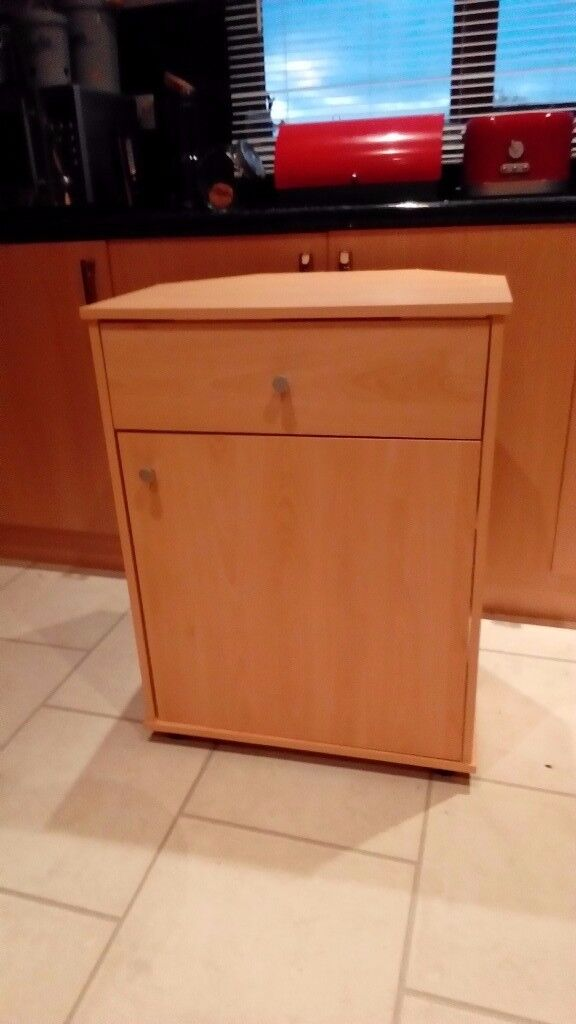 Tv Stand Cupboard With Drawer And Two Shelve Storage Open Back For Cables