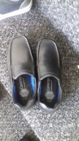 boys slip on black shoes size 1 brand new