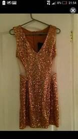 Sequin mini dress size 12(m)