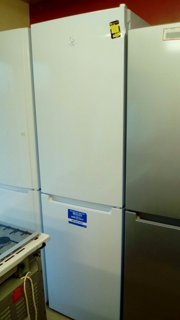 Indesit white Fridge Freezer slightly marked Ex displayin Bradford, West YorkshireGumtree - Indesit white Fridge Freezer slightly marked Ex display this item is in very good condition, nice and clean and tidy with no dints etc Any questions please feel free to contact me or text on 07477200285 464 thornton rd bd89bs