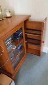 Music centre cabinet with cd rack