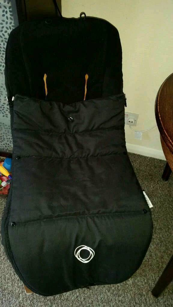 Bugaboo universal footmuff black suits all bugaboo pushchairs