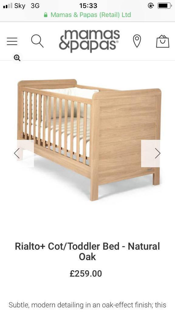 Mamas And Papas Cot Cot Bed In Whitfield Kent Gumtree